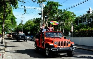 Picture of a Key West Jeep rental.